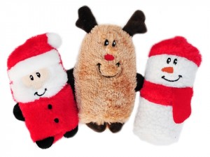 ZippyPaws Holiday Squeakie Buddies Mini 3 Pack