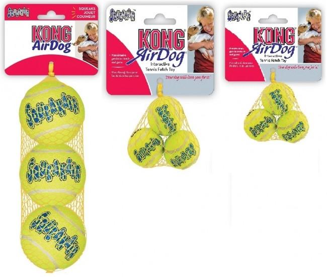 Kong AirDog Squeaker Tennis Balls 3Pk.