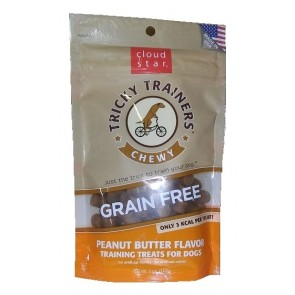 Cloud Star Chewy Tricky Trainers Grain Free - Peanut Butter 5 oz.