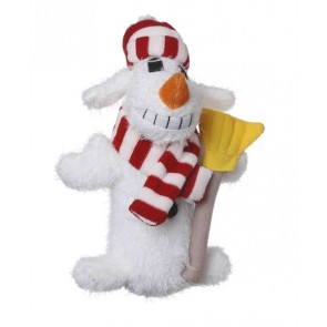 Multipet Holiday Loofa Dog Snowman Small 6 Inch
