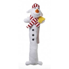 Multipet Holiday Loofa Dog Snowman Large 18 Inch