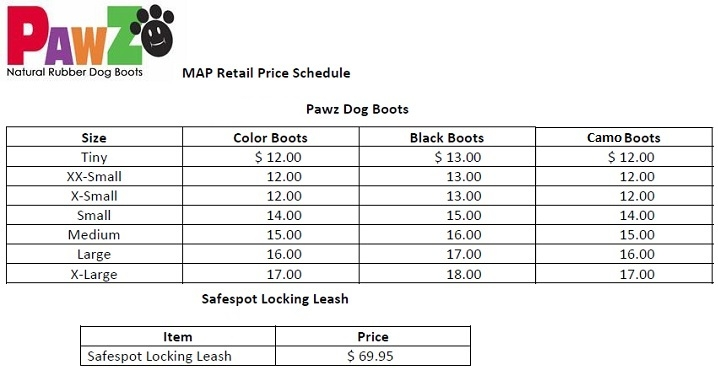 PawZ Map Pricing