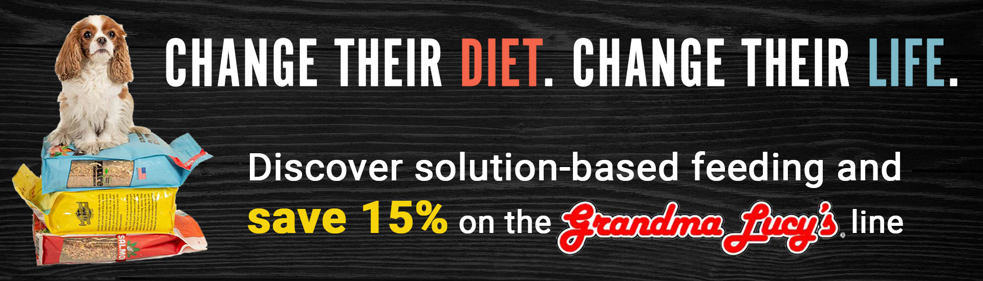 Change their diet. Change their life. Discover solution-based feeding and save 15% on the Grandma Lucy's line